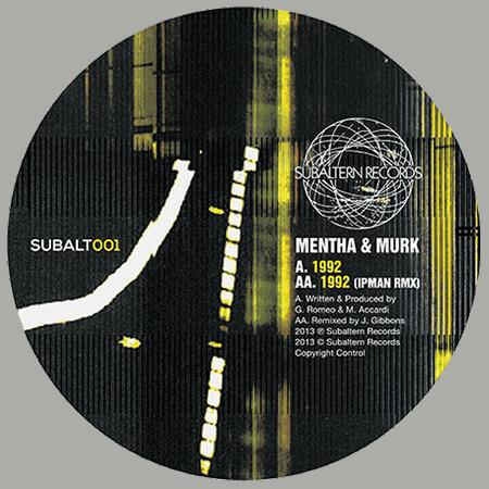 SUBALT001 - Mentha & Murk - 1992 EP